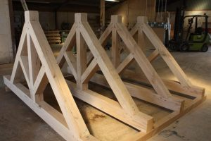 Douglas Fir King Post Trusses