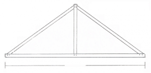 Douglas Fir King Post Truss