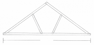 Douglas Fir Tied Queen Trusses