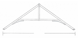 Douglas Fir Under Braced King Post Truss